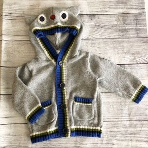 Gymboree owl hooded sweater